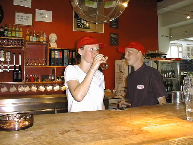 Karin, the bar's best customer
