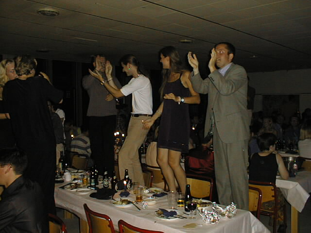 Dancing on the tables